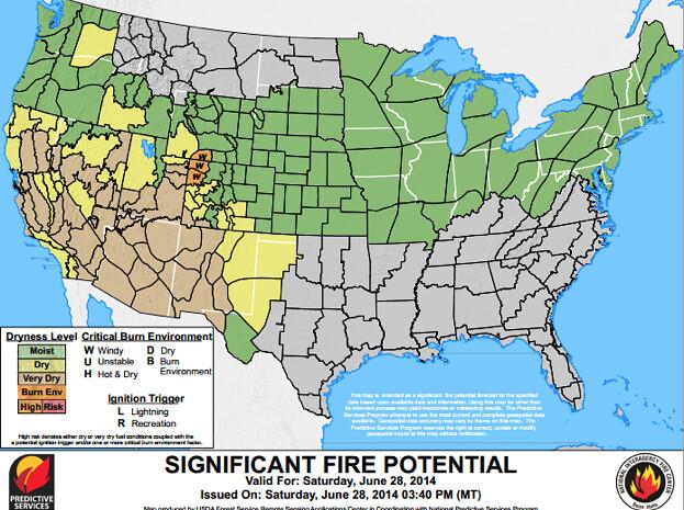 July Is Peak Wildfire Season for Colorado