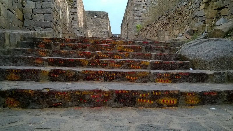 Stairs at Golconda Fort