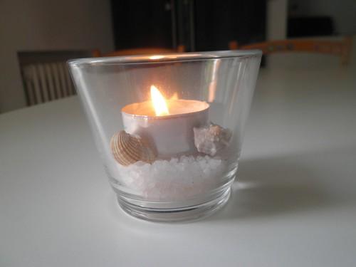 candelina sale e conchiglie