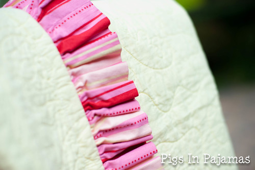 Grandma Flower Quilt Ruffle Closeup