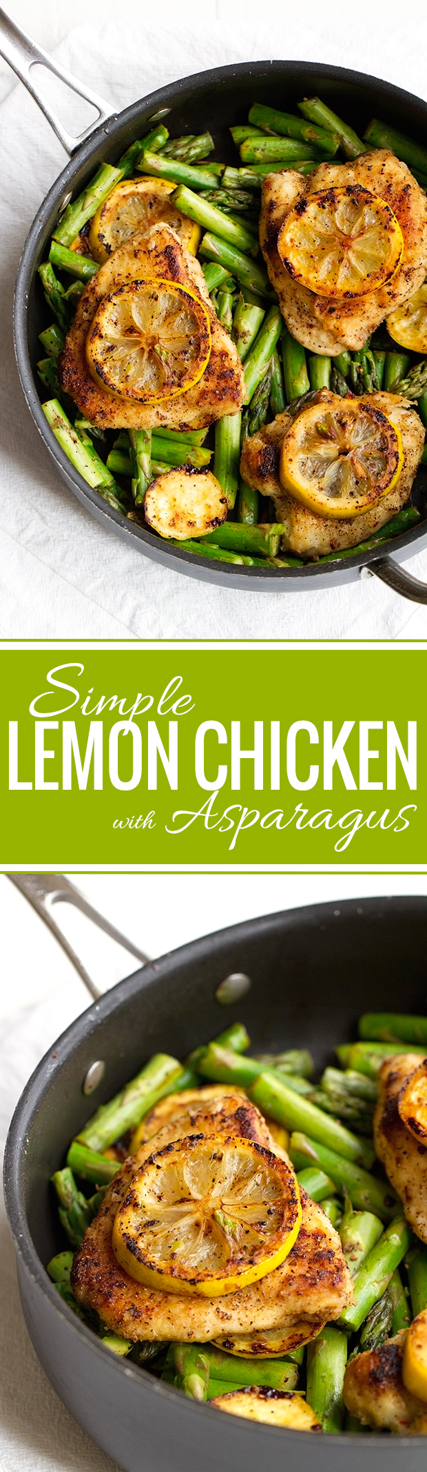 Simple Lemon Chicken with Asparagus - This recipe takes just 25 minutes and less than 10 ingredients! #chicken #lemonchicken #asparagus   Littlespicejar.com