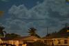 Moon lit clouds