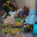 Selling fruit and vegetables on the street