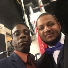 @faharrafvision and Justin Sanders. The CEO of Unique home-improvement Here at the 21st Annual Stone Awards Memphis Tennessee!  #FFVWORK #TEAMLOVE  IG, @faharrafvision Twitter, @faharrafvision FB, Fa-Harra F. Vision Snapchat, Fa-Harra #SonofAAG  #iVDFAM #