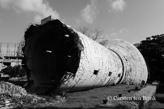 Watertower: casualty of the war