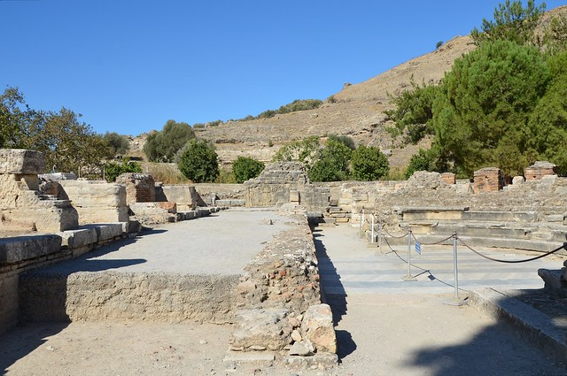 The Scene and Orchestra of the Roman Odeum, built in the 1st century BC and after being damaged by an earthquake, was restored by Trajan, Gortyna, Crete