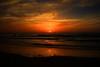 Sunset in Tel-Aviv beach