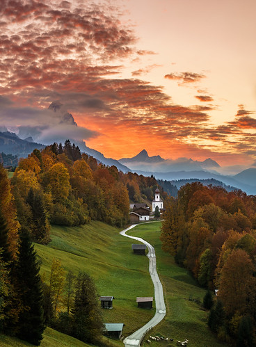 Bavarian Sunset por Achim Thomae