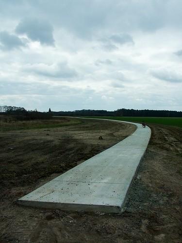 Der neue Fahrradweg entlang der Havel zwischen Böh