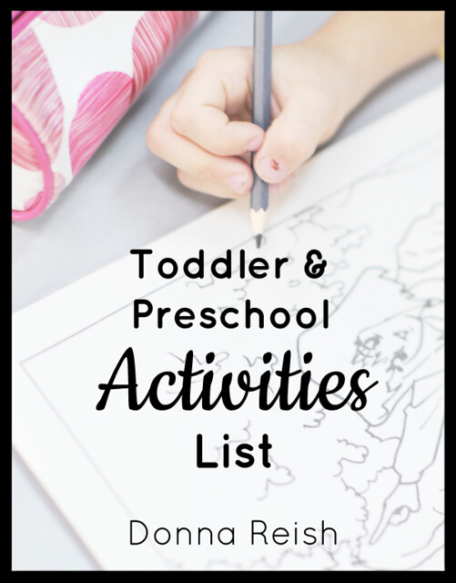 Toddler and Preschool Activities List  [Free Download!]
