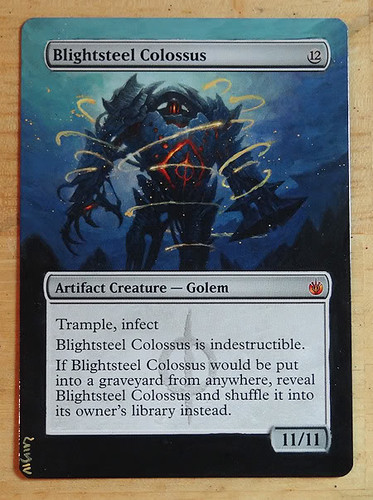 Blightsteel Colossus Magic the gathering altered art MTG alter yawg07