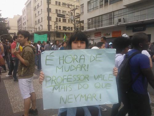 Protesto em Campinas