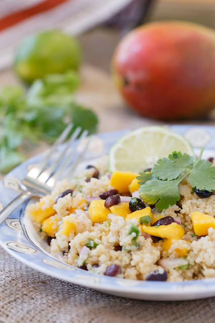 So when I had a bunch of the Black Bean and Mango Salsa leftover from ...