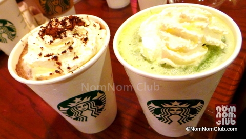New Starbucks Frappuccino: Dark Mocha White Chocolate Pudding and Green Tea White Chocolate Pudding