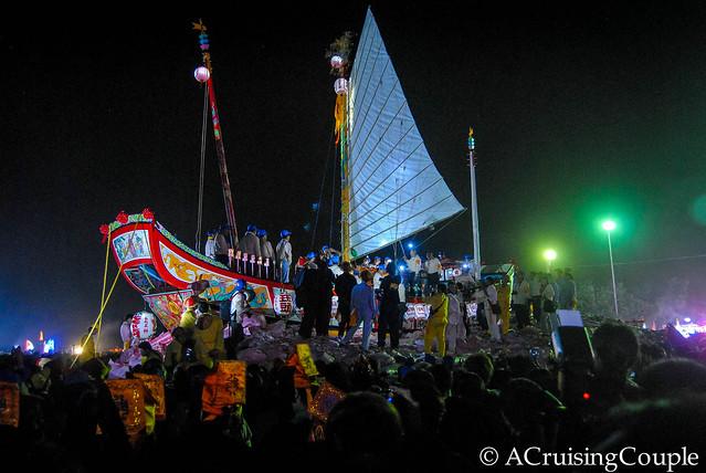 Boat Burning Festival Taiwan Sails
