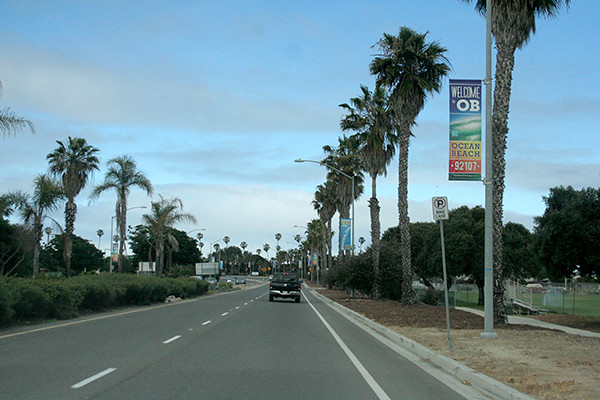 road to Ocean Beach