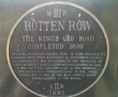 Photo of Rotten Row and William III blue plaque