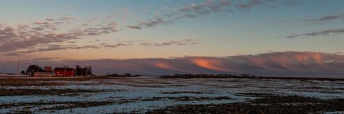 winter sunset panorama rural country ©jrj