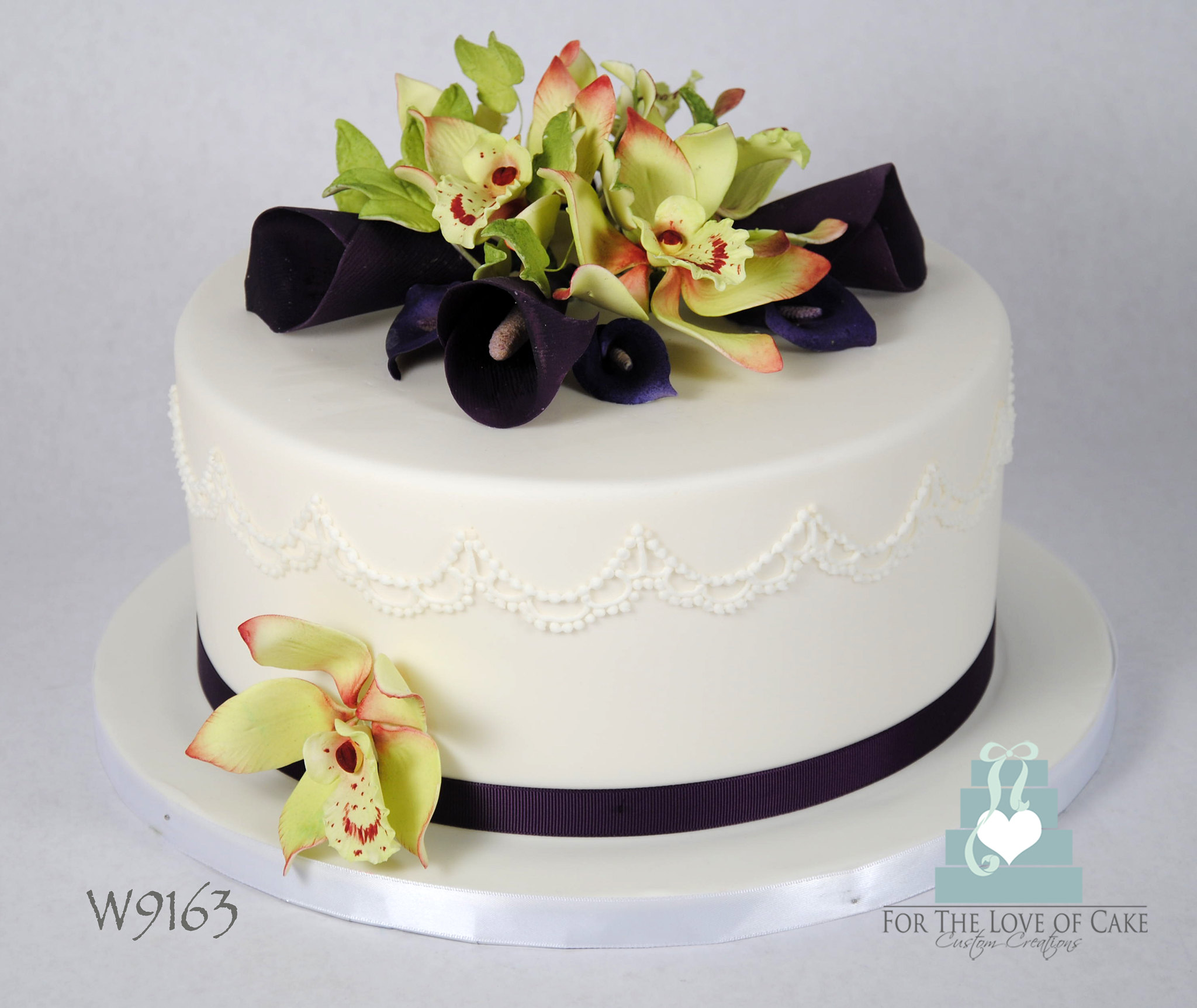 Orchids And Calla Cake Ideas and Designs