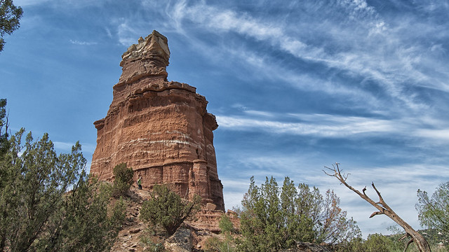 Palo Duro Canyon State Park, Texas - Lighthouse formation in Palo Duro Canyon State Park in the Texas Panhandle.