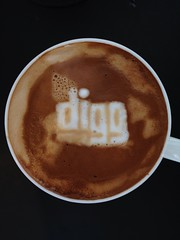 Today's latte, digg.