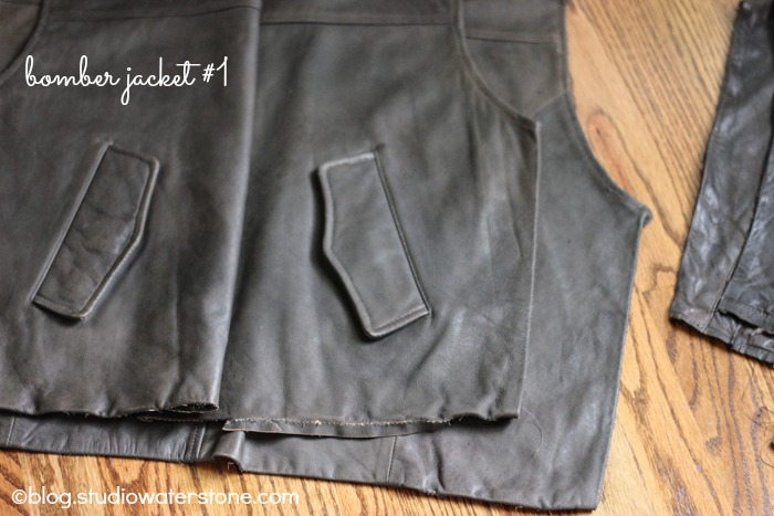 Recycled Leather Bomber Jacket #1
