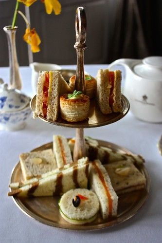 high tea sandwich platter at 1865