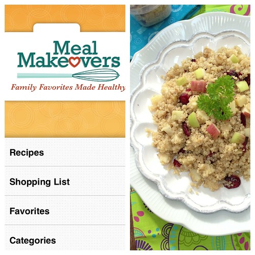 Meal Makeovers app - quinoa salad