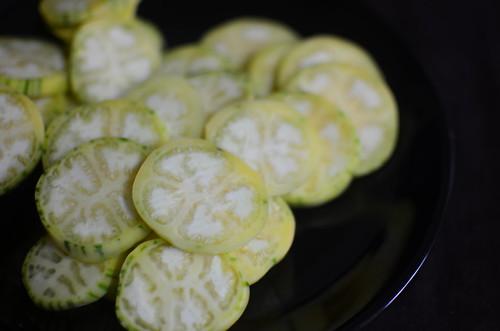 Slices of garden eggs