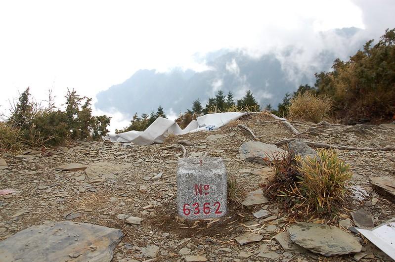 甘薯峰三等三角點(# 6263 Elev. 3158 m) 1
