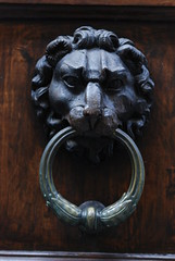 carving, art, sculpture, head, door knocker, stone carving, iron,