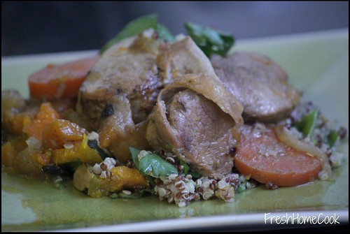 Slow Cooked Pork Medallions w/Fresh Apple & Sweet Potato