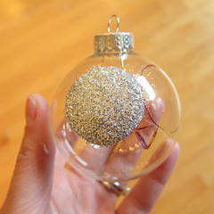 Glitter and Feathers Owl Ornament