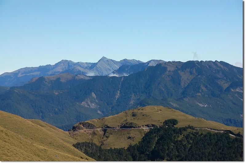 合歡主山步道東北眺北段中央山脈 2