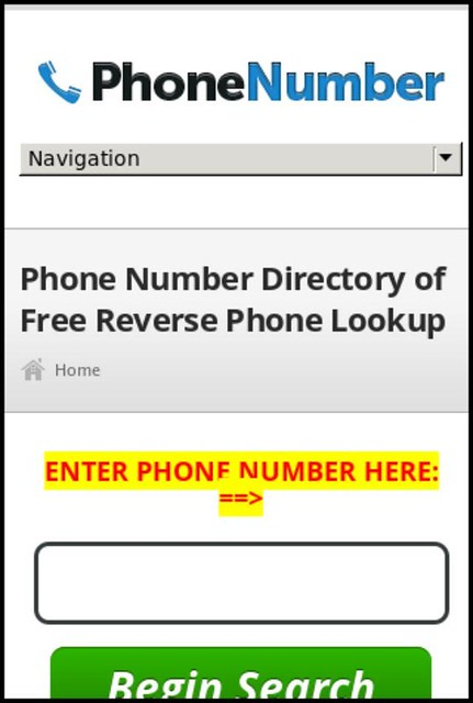 cell phone n... Reverse Lookup