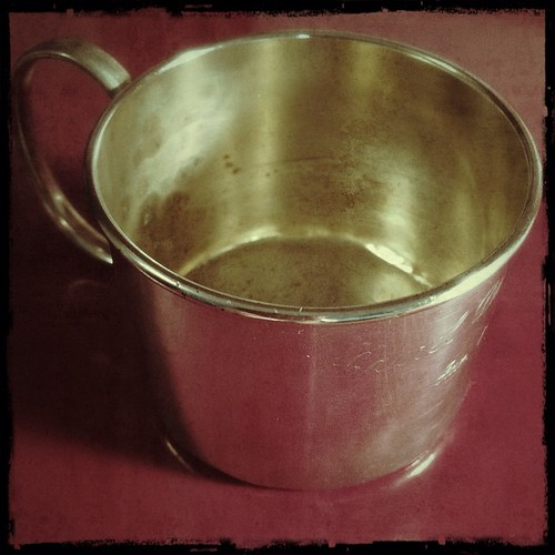 #fmsphotoaday November 11 - A memory (my silver baby cup)
