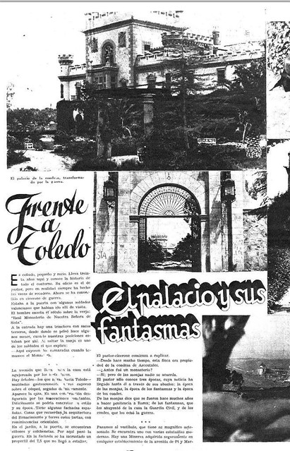 Artículo de la revista Estampa del 15 de mayo de 1937 sobre el Palacio de la Sisla. Fotos de los Hermanos Mayo, texto de Jesús Izcaray