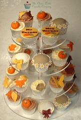 Autumnal Wedding Cupcake Tower