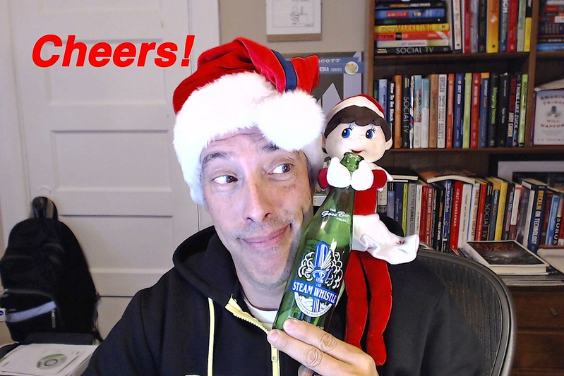 Cheers! Elf On The Shelf.