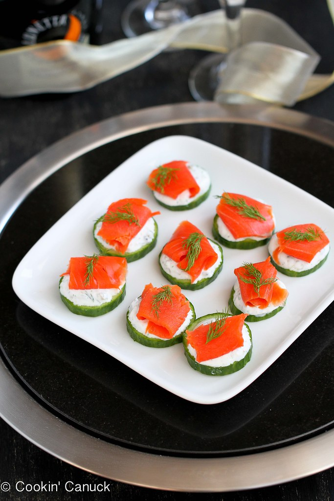 Smoked & Cucumber Appetizer Recipe with Caper Yogurt | cookincanuck.com #recipe #appetizer