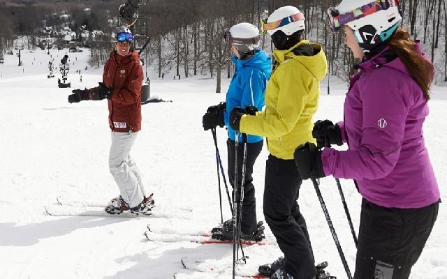 Crystal Mountain women's ski clinic
