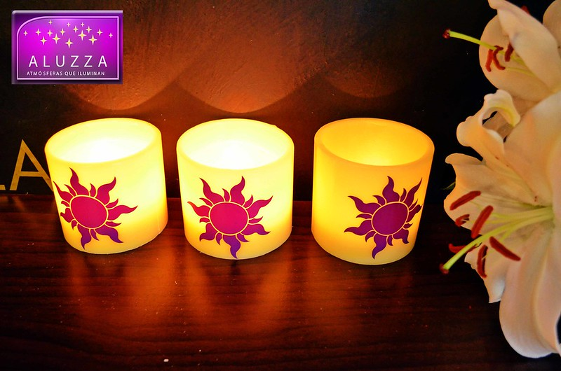 pantallas de cera para decoracion de fiestas tematicas de rapunzel ALUZZA