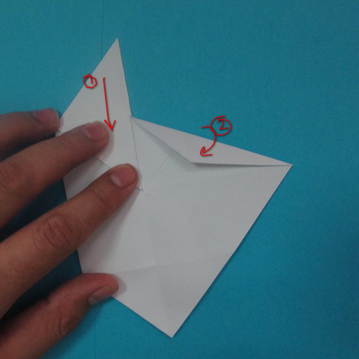 วิธีการพับกระดาษเป็นนกเพนกวิ้น 028