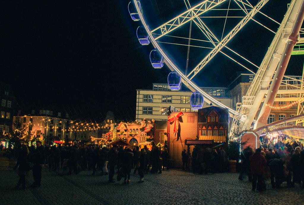 Kerstmarkts in Dusseldorf