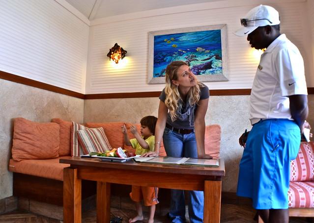 The Breakers Hotel, Palm Beach, Florida - The Beach Club - our waiter