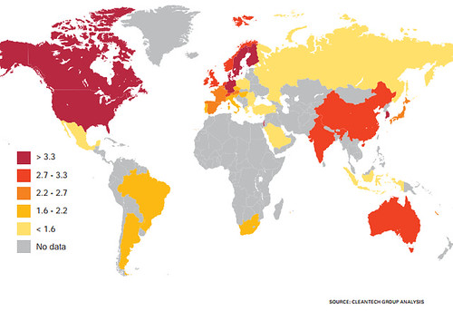 MAP-OF-OVERALL-GLOBAL-CLEANTECH-INNOVATION-INDEX-SCORES-CLEANTECH-GROUP-ANALYSIS