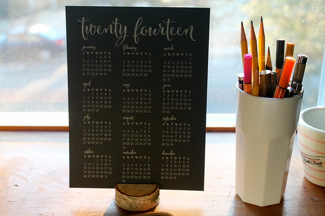 DIY Birch Branch photo/card holder, BloomLetterpress Calendar