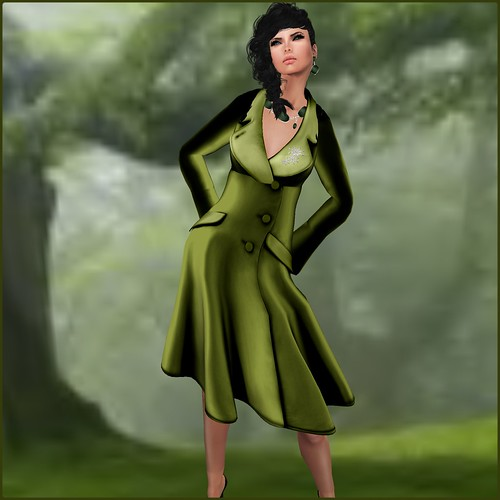 TOPAZIA- Ines Caot (mesh) green by Orelana resident