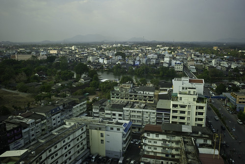 View of Chanthaburi, Thailand from our hotel room on 17th floor.