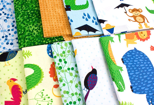 Rainforest Fun Quilt fabric by Arrolyn Weiderhold
